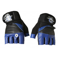 Перчатки для кроссфита и фитнесса progryp black blue