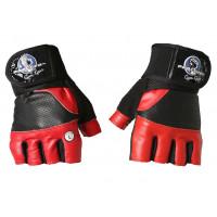 Перчатки для кроссфита и фитнесса progryp black red