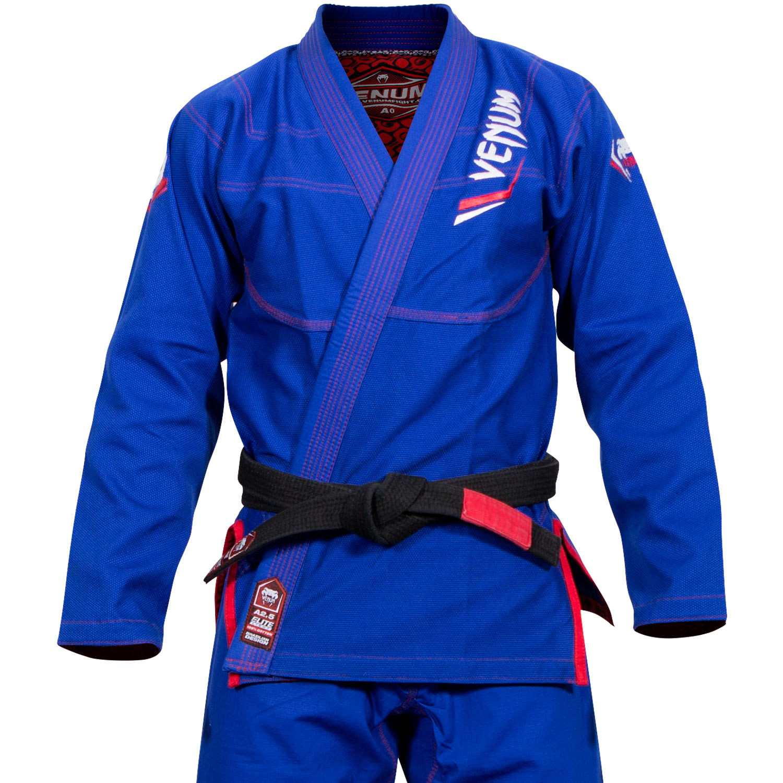 Кимоно для бжж venum elite bjj gi - blue