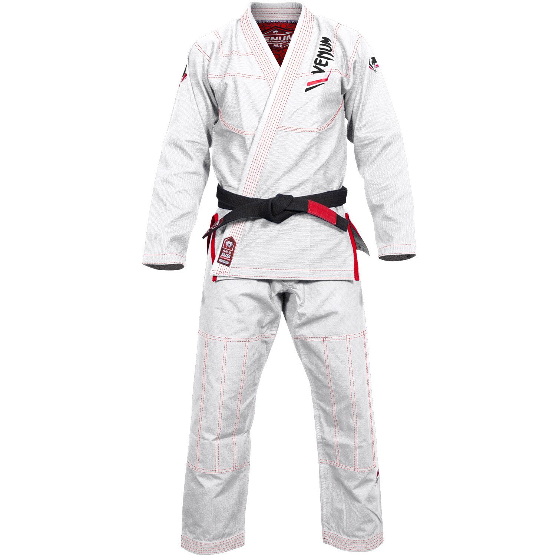 Кимоно для бжж venum elite bjj gi - white/red