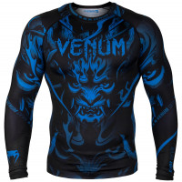 Рашгард venum devil rashguard - long sleeves  navy blue/black