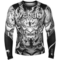 Рашгард venum devil rashguard - long sleeves white black