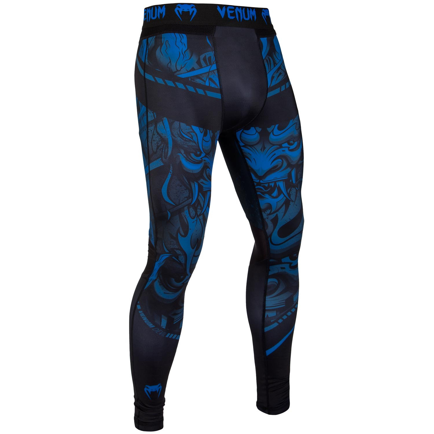 Спортивные штаны venum devil spats navy blue black