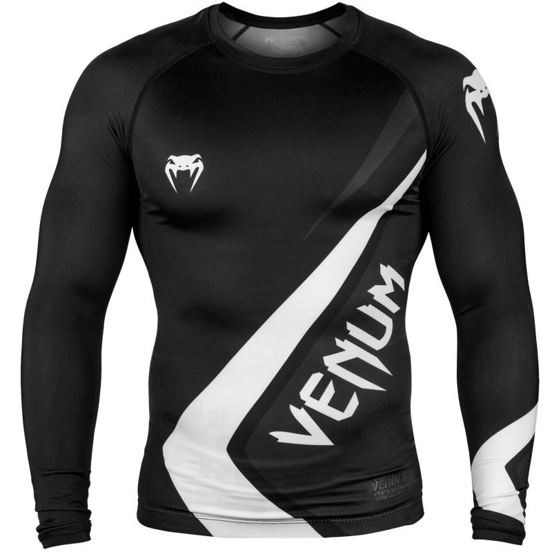 Рашгард venum contender 4.0 long sleeves - black/grey