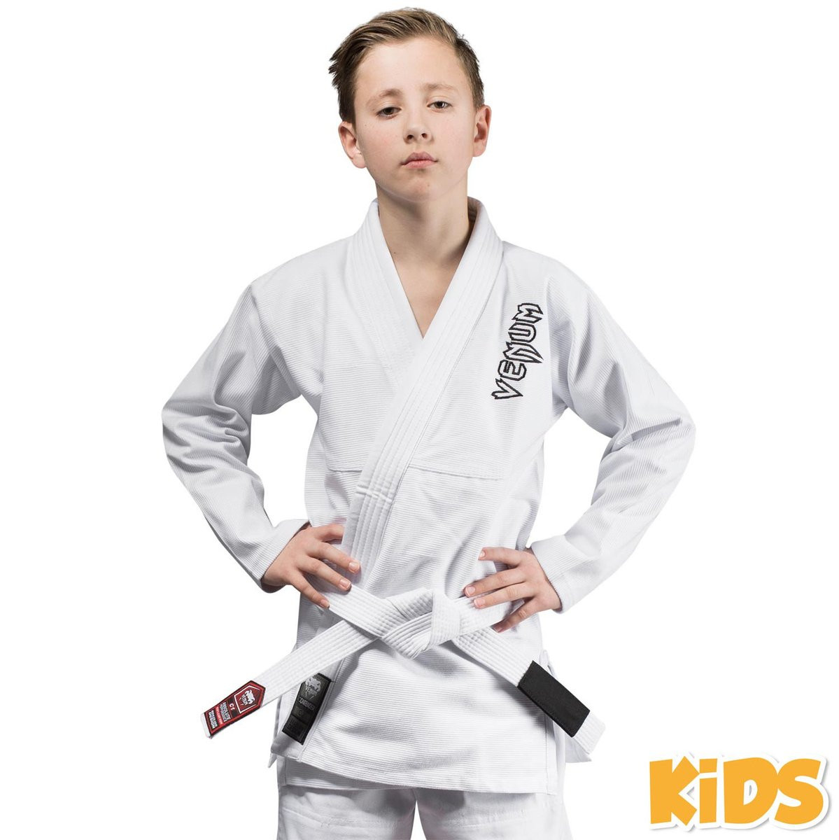 Детское кимоно для бжж contender - white