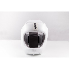 Шлем для каратэ с защитой подбородка empireboxing white