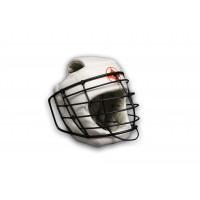 Шлем для единоборств №2 с маской empireboxing white