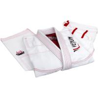 Кимоно для бжж venum elite bjj gi - white/red (только куртка)
