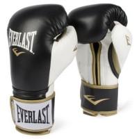 Перчатки тренировочные everlast powerlock pu black white