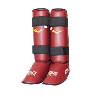Защита голени и стопы для рукопашного боя everlast hsif pu red