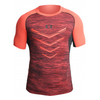Рашгард under armour heat gear short sleevels orange 05