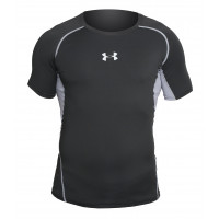 Рашгард under armour heat gear short sleevels black grey 05