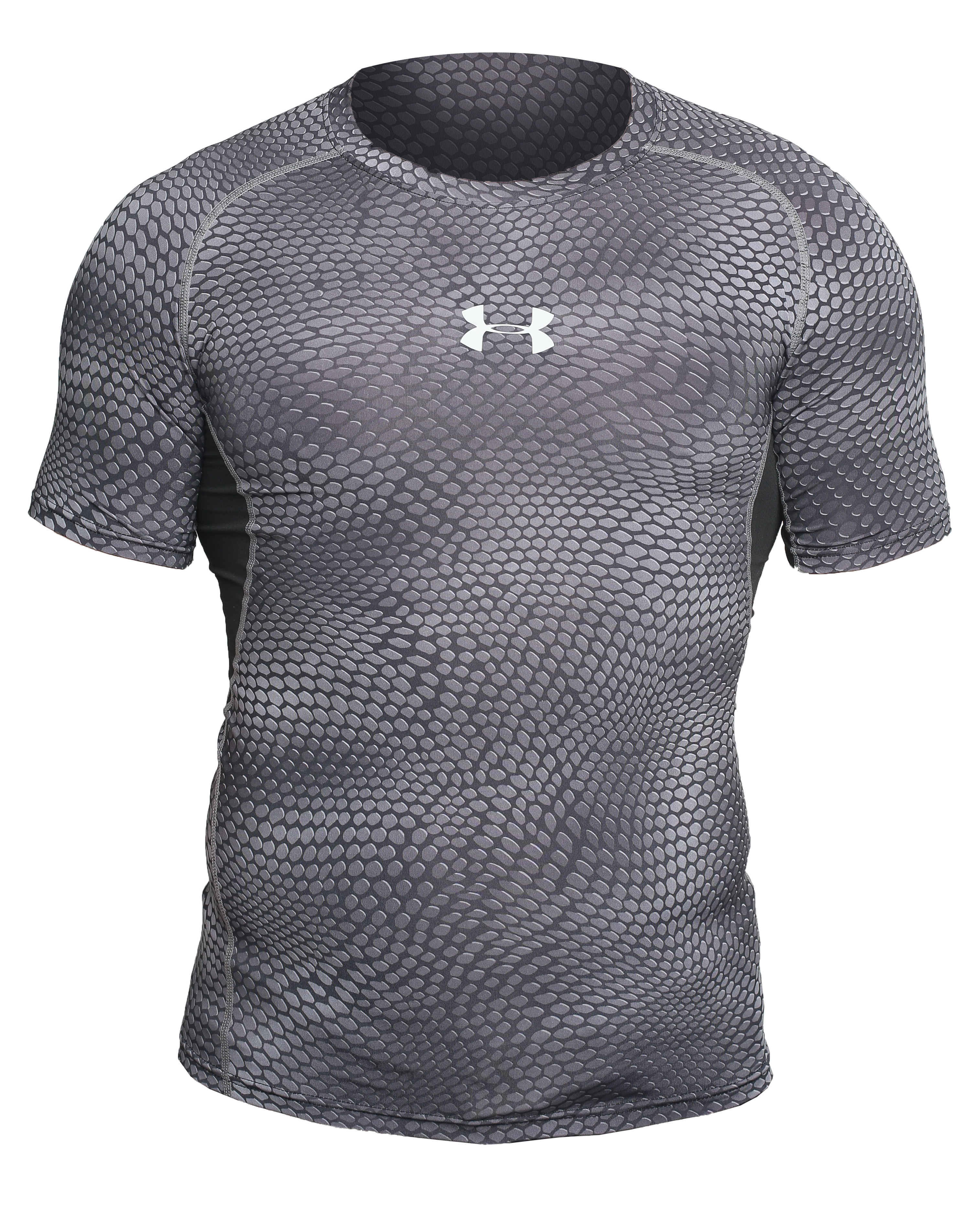 Рашгард under armour heat gear short sleevels grey 05