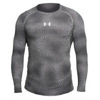 Рашгард under armour heat gear long sleevels grey 16