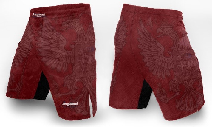 Шорты jagged russian eagle red