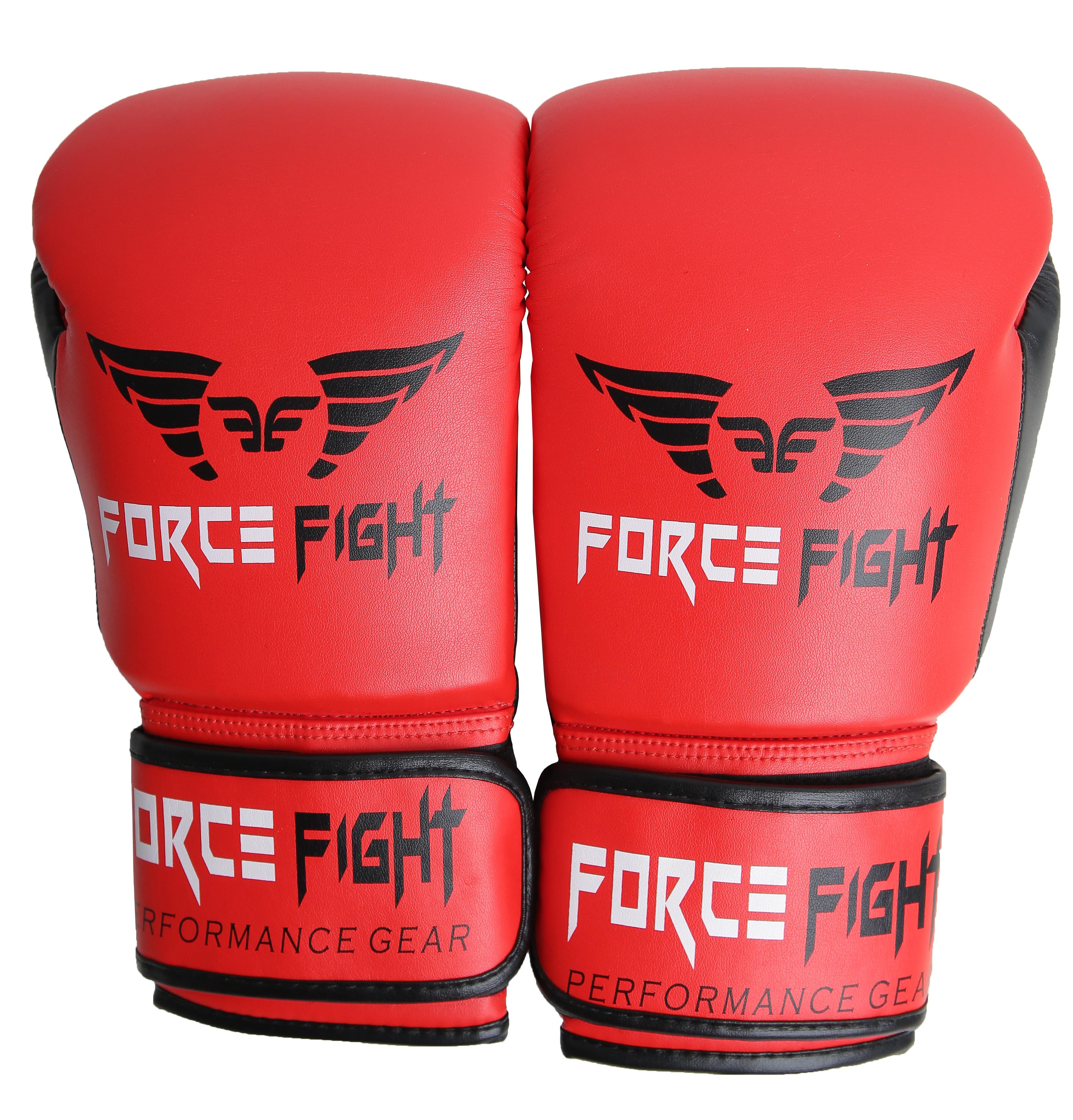 Боксерские перчатки force fight red