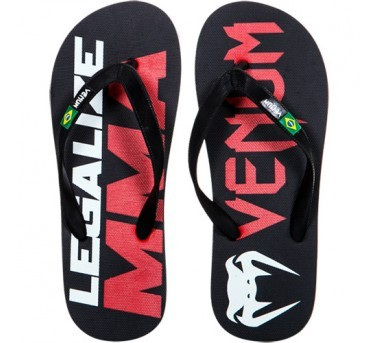 "VENUM ""LEGALIZE MMA"" SANDALS - BLACK"