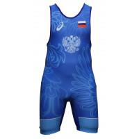 Борцовское трико asics wrestling teamwear singlet blue