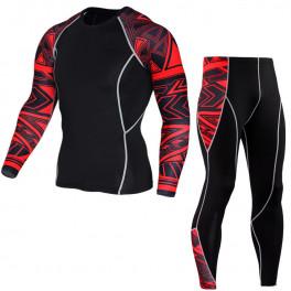 Спортивный комплект under armour heat gear black 0917