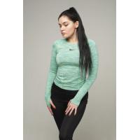Рашгард женский nike long sleevels 5019 green