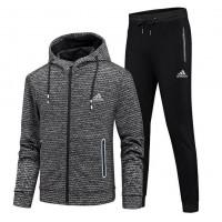 Мужской спортивный костюм adidas grey 8666