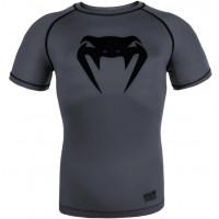 Рашгард venum contender 3.0 short sleeves - grey/black