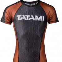 Рашгард ранговый tatami black brown short sleevels ibjjf