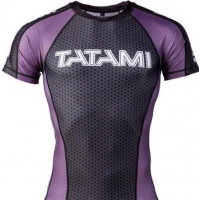 Рашгард ранговый tatami black purple short sleevels ibjjf