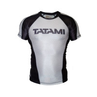 Рашгард ранговый tatami white black short sleevels