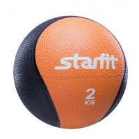 Медбол starfit pro gb702 orange 2кг