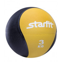Медбол starfit pro gb702 yellow 3кг