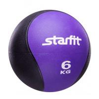 Медбол starfit pro gb702 purple 6кг