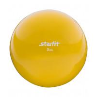 Медбол starfit gb703 yellow 3кг