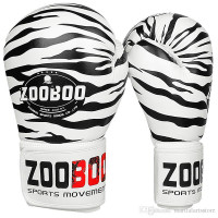Боксерские перчатки zooboo tiger white