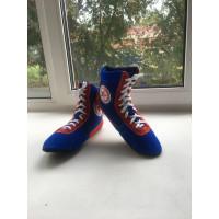 Обувь для самбо синие