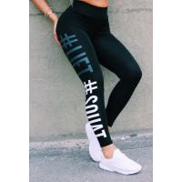 Лосины спортивные женские 6028 black