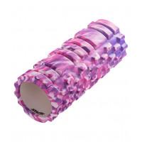 Ролик массажный starfit fa-503 фиолетовый камуфляж