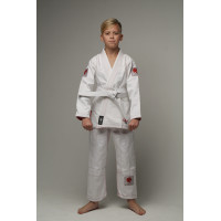 Детское gi bjj lion pro 2.0- white red
