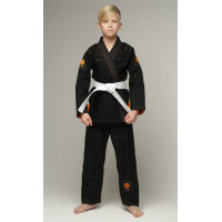 Детское gi bjj lion pro 2.0- black orange