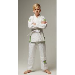 Детское gi bjj lion pro 2.0- white green