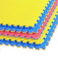 Напольное покрытие ласточкин хвост 100см желтый синий
