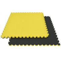 Напольное покрытие ласточкин хвост 60см черный желтый