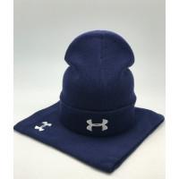 Комплект шапка и бафф under armour blue