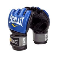 Перчатки мма everlast pro style grappling blue