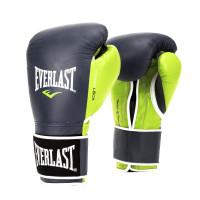 Боксерские перчатки everlast powerlock black green