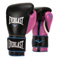 Боксерские перчатки everlast powerlock pu black purple