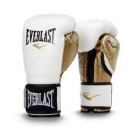 Боксерские перчатки everlast powerlock pu white gold