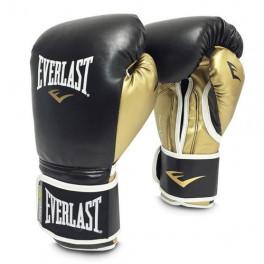 Боксерские перчатки everlast powerlock pu black gold