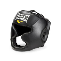 Шлем боксерский martial arts leather full face black
