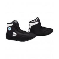 Обувь для борьбы gwb-3052/gwb-3055 черно/белая